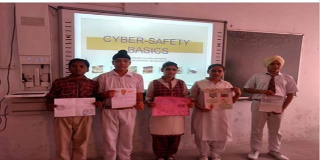 An Activity on Cyber Safety on dated 1st Sept. 2018